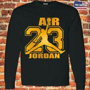Chicago Bulls #23 Michael Jordan NBA Gold ersey Te